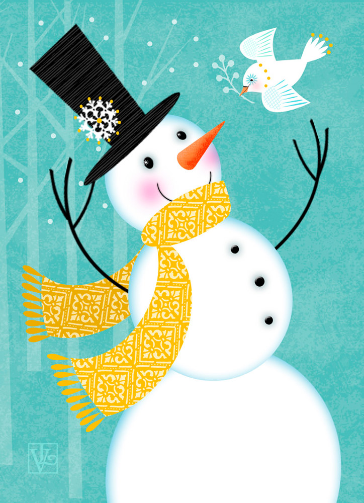 Happy Snowman  by Valerie Lesiak