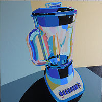 Acrylic painting Blender  by Reed Dixon