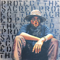 Acrylic painting Protect The Sacred by Stuart  Sampson