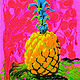 Psychedelic Pineapple  by Pamela Neswald