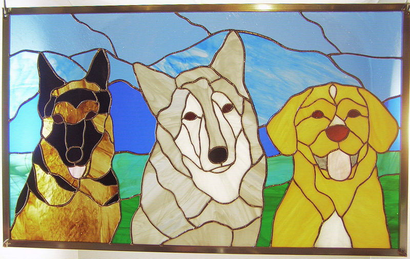 Luca, Toby and Frisco by Evi Cundiff