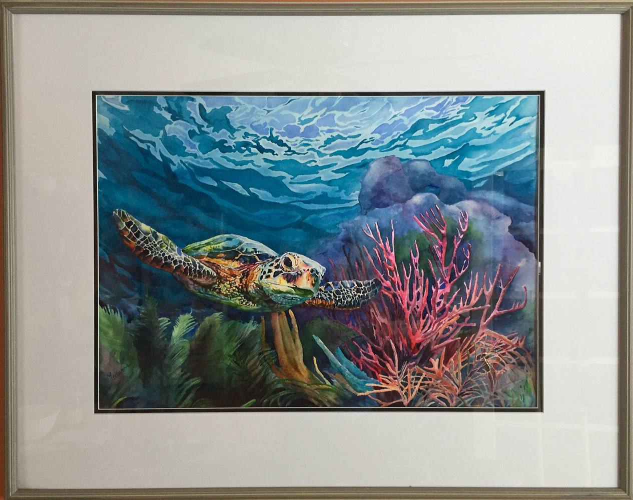 Watercolor Sea Turtle  by Elizabeth4361 Medeiros