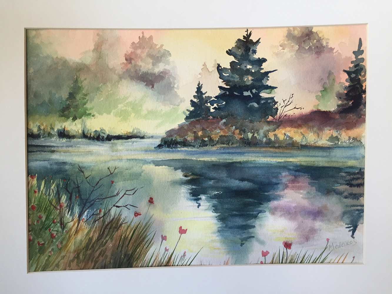 Watercolor Morning reflections by Elizabeth4361 Medeiros