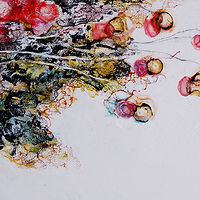 Mixed-media artwork Blossoms of Time II by Liba Labik