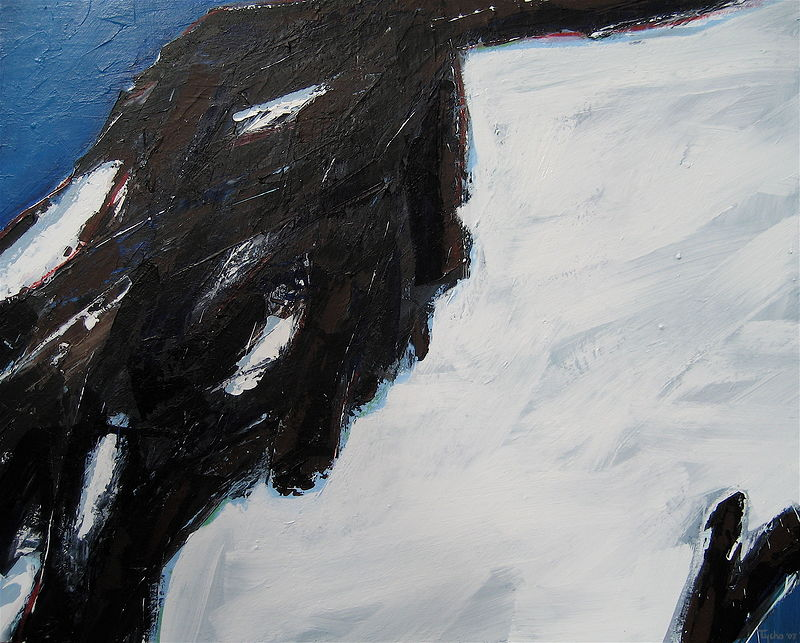 Acrylic painting Black Tusk No. 23 by David Tycho