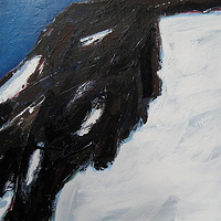 Acrylic painting Black Tusk #23 by David Tycho