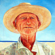 Oil painting Portrait of Gus  by Jodi Jansons