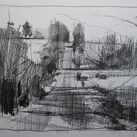 Drawing Hill Stop by Harry Stooshinoff