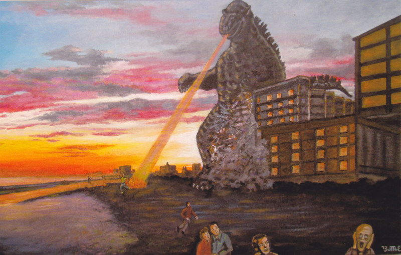 Godzilla Vacations on Myrtle Beach by Valerie Buttler