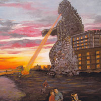 Godzilla Vacations on Myrtle Beach by Ron Buttler
