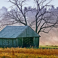 Print JohnStyner_Photography_CornCrib by David Eater