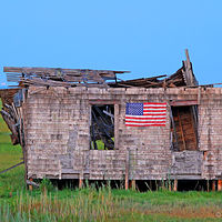 Print JohnStyner_Photography_TumbledownShack by George Servais