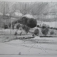 Drawing Overcast, 10 Saved Acres by Harry Stooshinoff