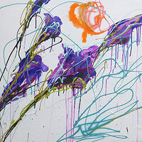 Mixed-media artwork Glads by Reed Dixon