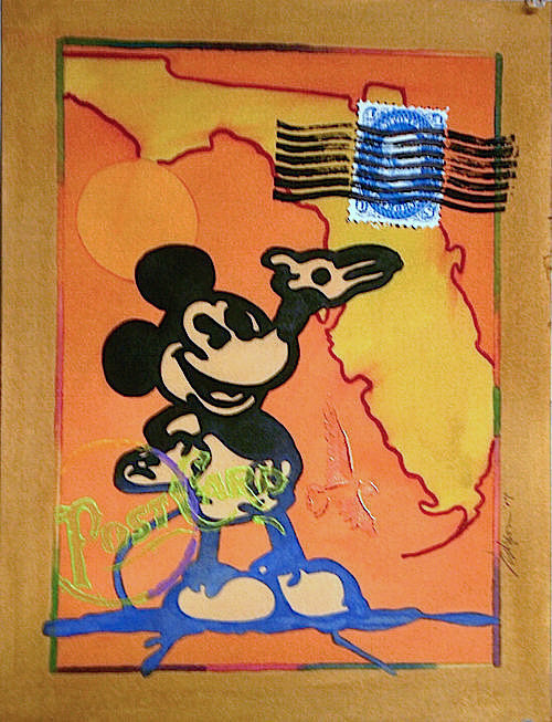 Mixed-media artwork Mickey by Reed Dixon