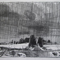 Drawing Lost Dog Hill, December 10 by Harry Stooshinoff