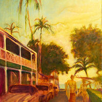 Making Memories Lahaina 24x32, flat/rolled by Pamela Neswald