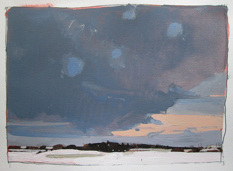 Acrylic painting Wedge at Dusk by Harry Stooshinoff