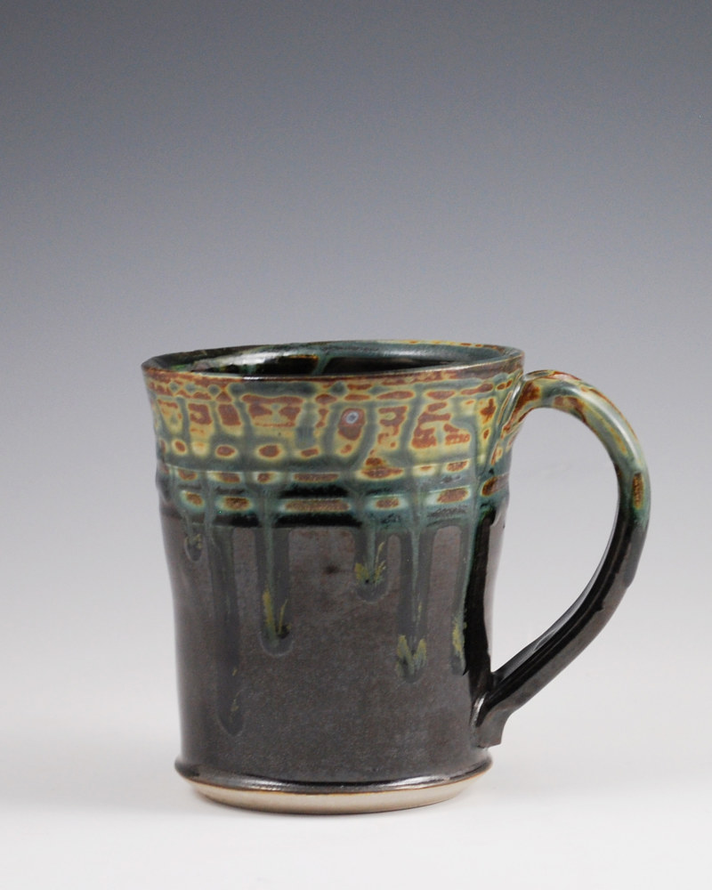 Ash Trail Straight Mug with Black on Bottom by Mark  Goertzen