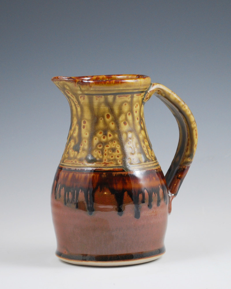 Honey Ash Cream Pitcher with Chocolate  by Mark  Goertzen