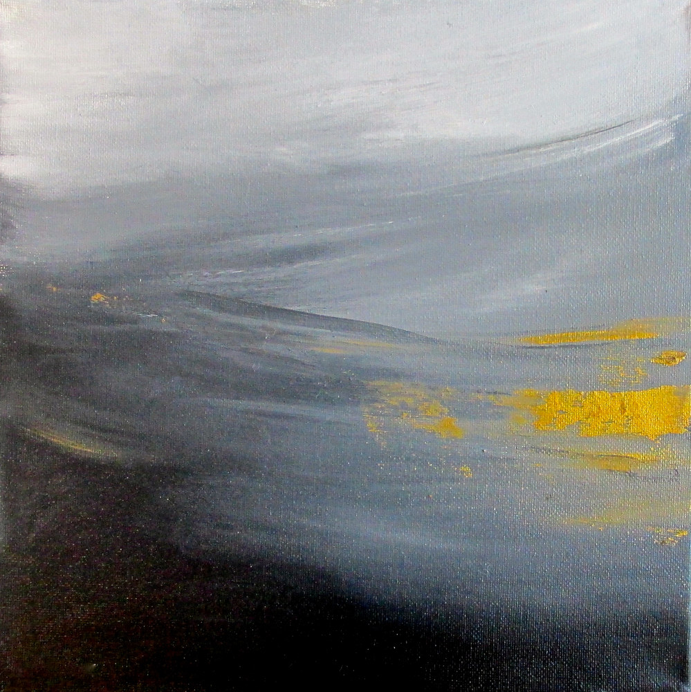 Oil painting small minimalistic painting by Laura Spring
