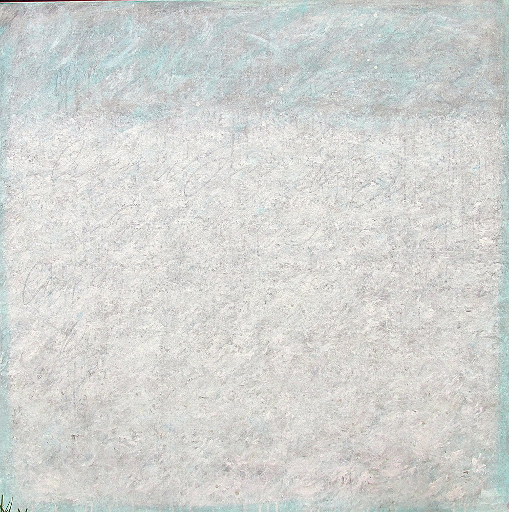 Acrylic painting Whispers series, whiteout by Laura Spring
