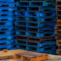 """Blue Pallets"" by Hunter Madsen"