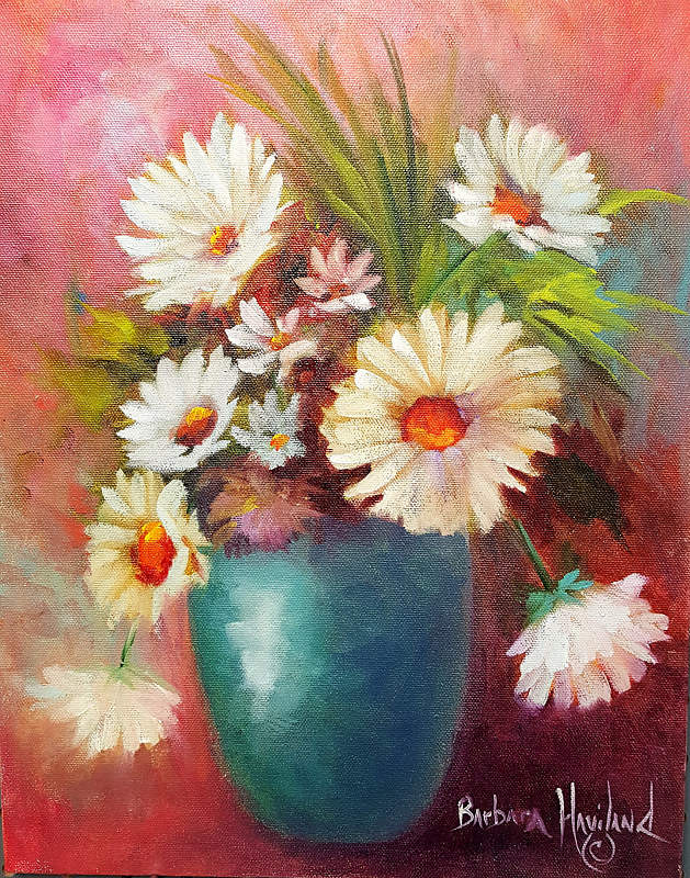 Oil painting Just For You Daisies by Barbara Haviland