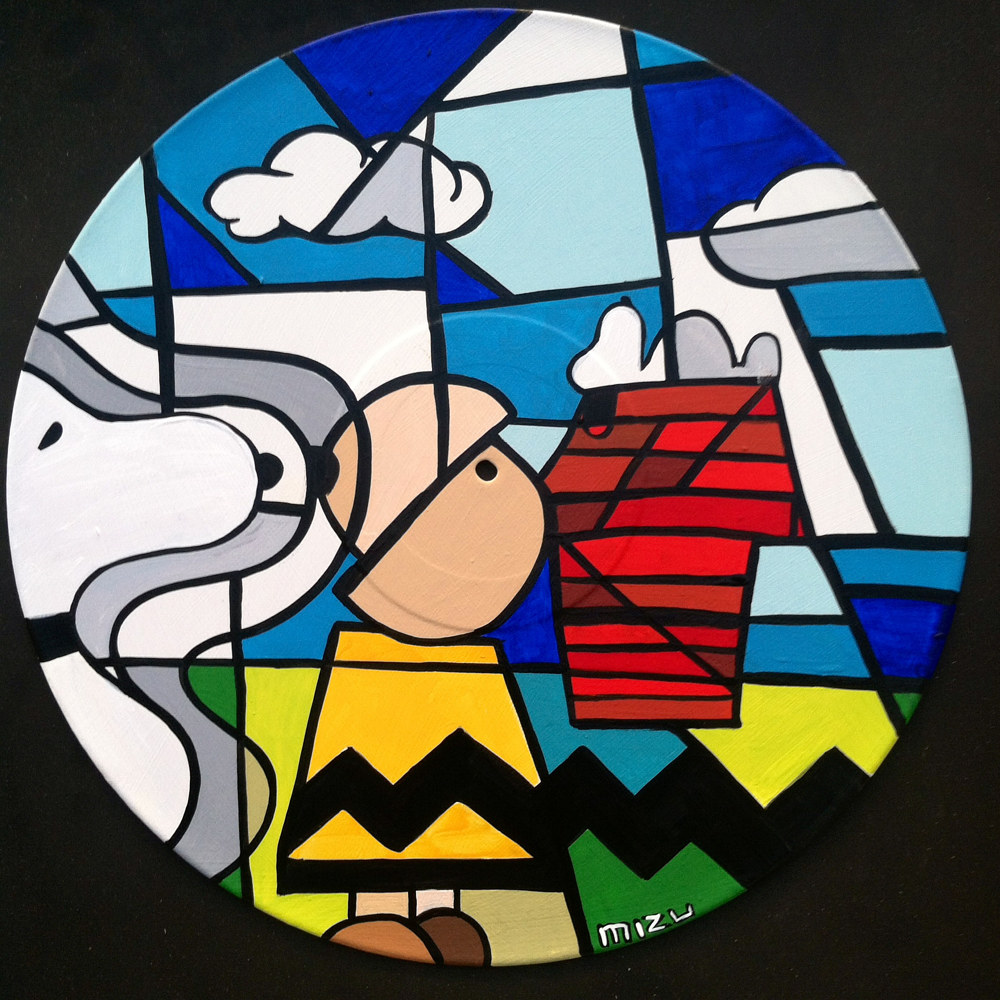 Painting Peanuts   Abstract Cubism Pop-Art by Isaac Carpenter