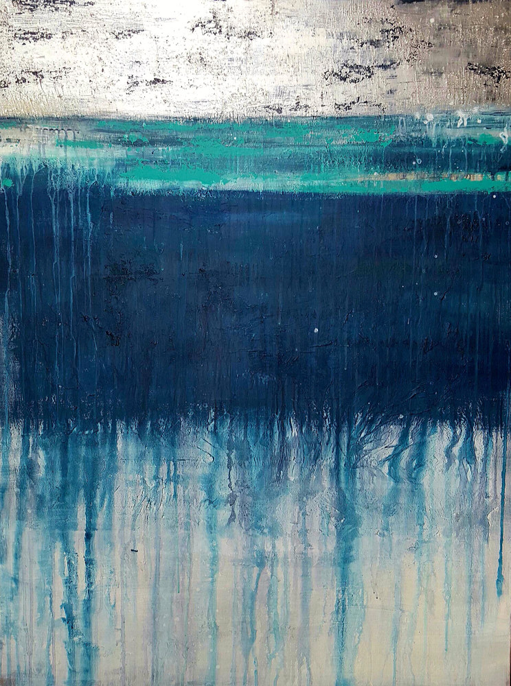 Acrylic painting Nordic Night by Laura Spring