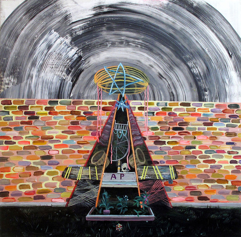 Acrylic painting Fringe Arch by Jordan Dunlop