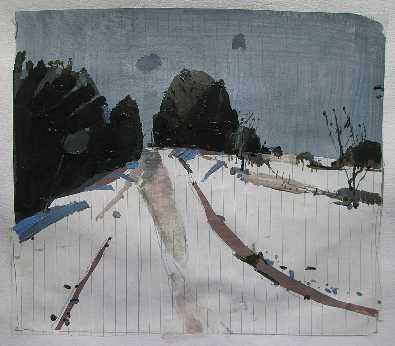 Acrylic painting Cedar Hill, December 23 by Harry Stooshinoff