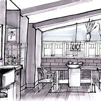 Conceptual drawings help the client visualize. by Kathi Kermes - Dixon
