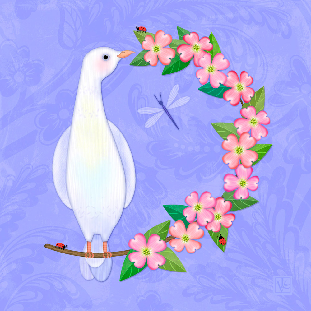 D is for Dove and Dogwood by Valerie Lesiak