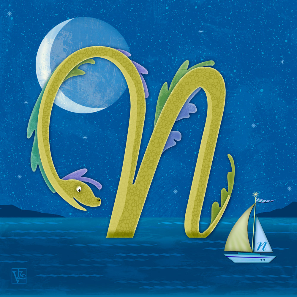 N is for Nessie  by Valerie Lesiak