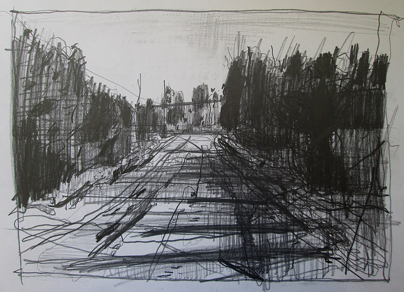 Drawing Dean's Hill, New Year's Day by Harry Stooshinoff