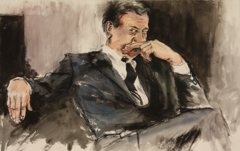 Watercolor the politician  by Madeline Shea