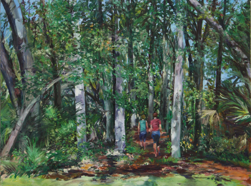 Oil painting woodland 1  by Madeline Shea