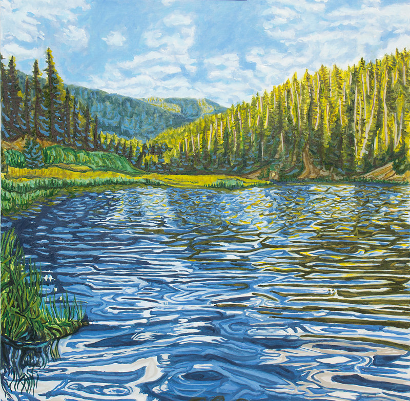 Oil painting Ripple by Crystal Dipietro