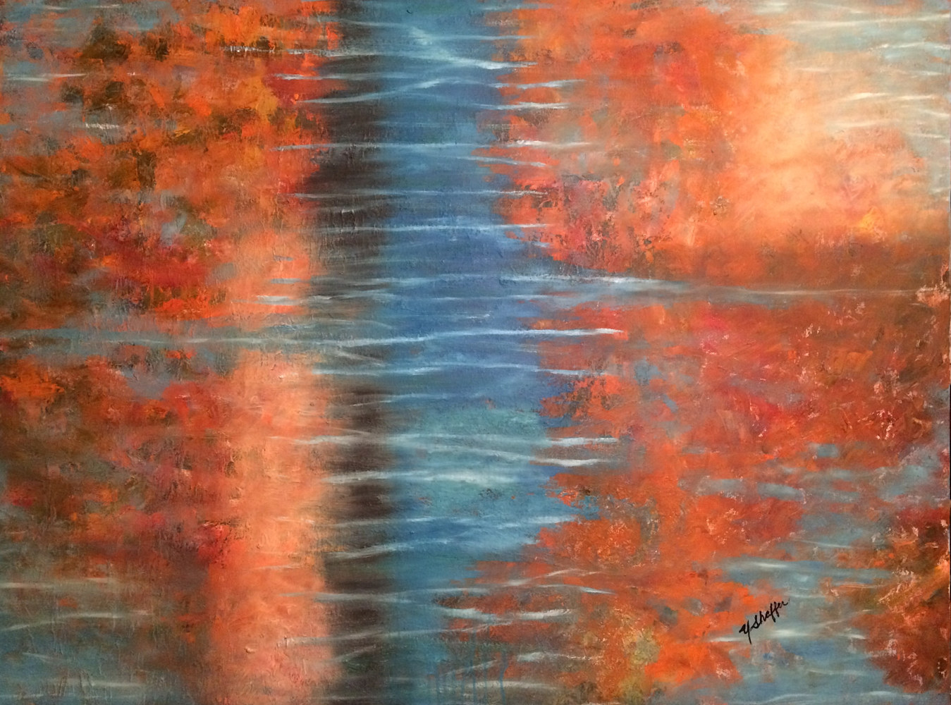 Oil painting Water Dance by Yvonne Shaffer