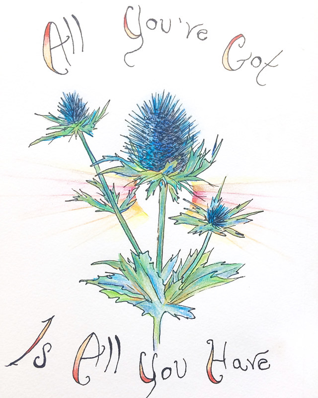 Watercolor Stacey Sproule - Thistle by Julie Gladstone