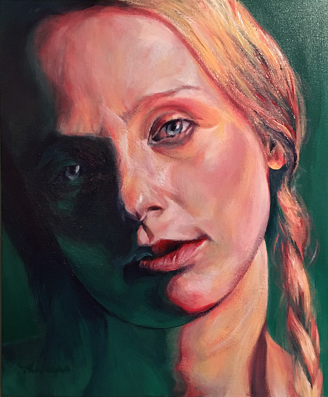 Acrylic painting Ann Sophie 2 by David Yawman