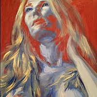 Acrylic painting Danielle 3 by David Yawman
