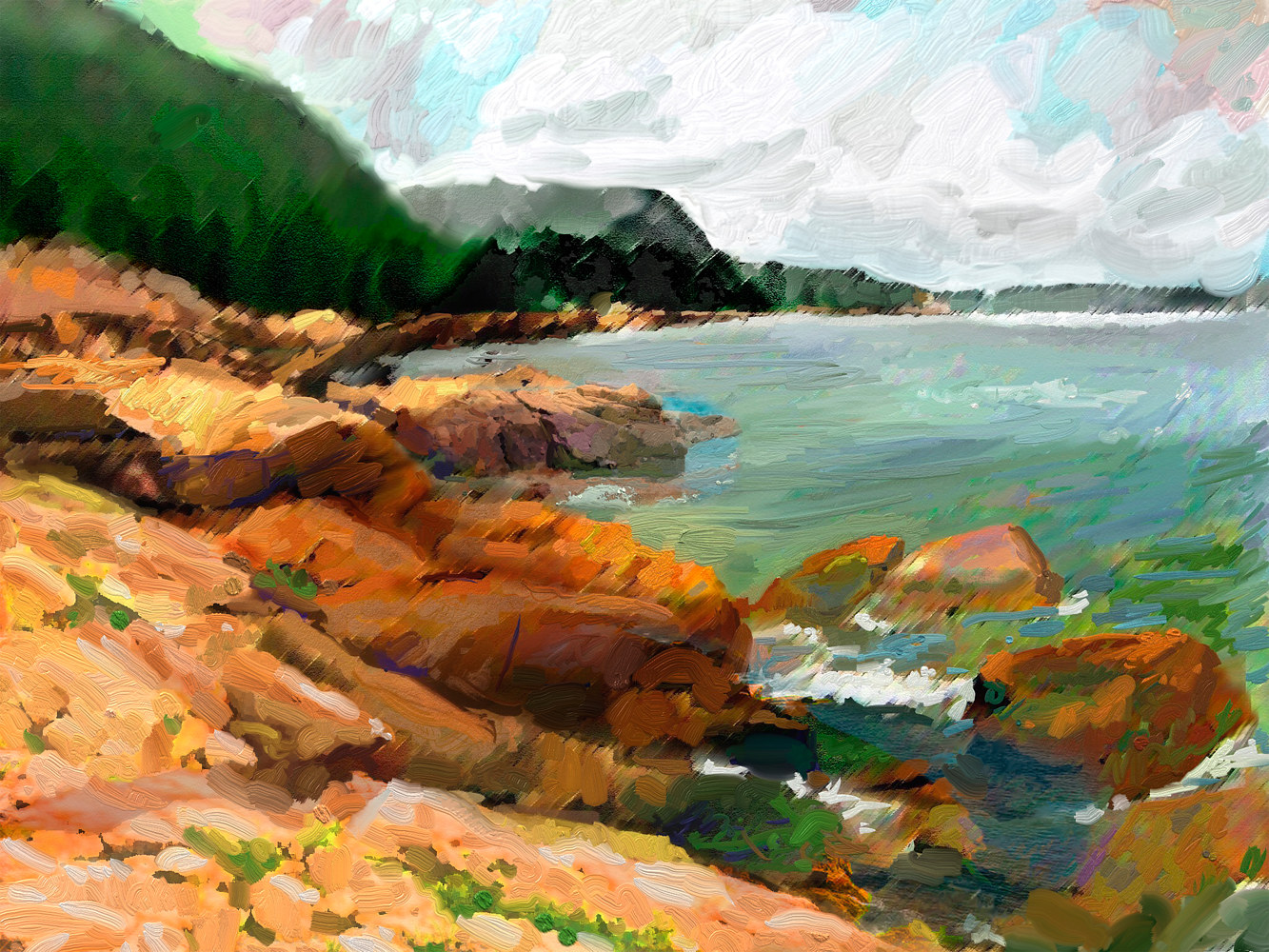 Watercolor Maine Acadia Coast_edited-1 by Bernard Dick