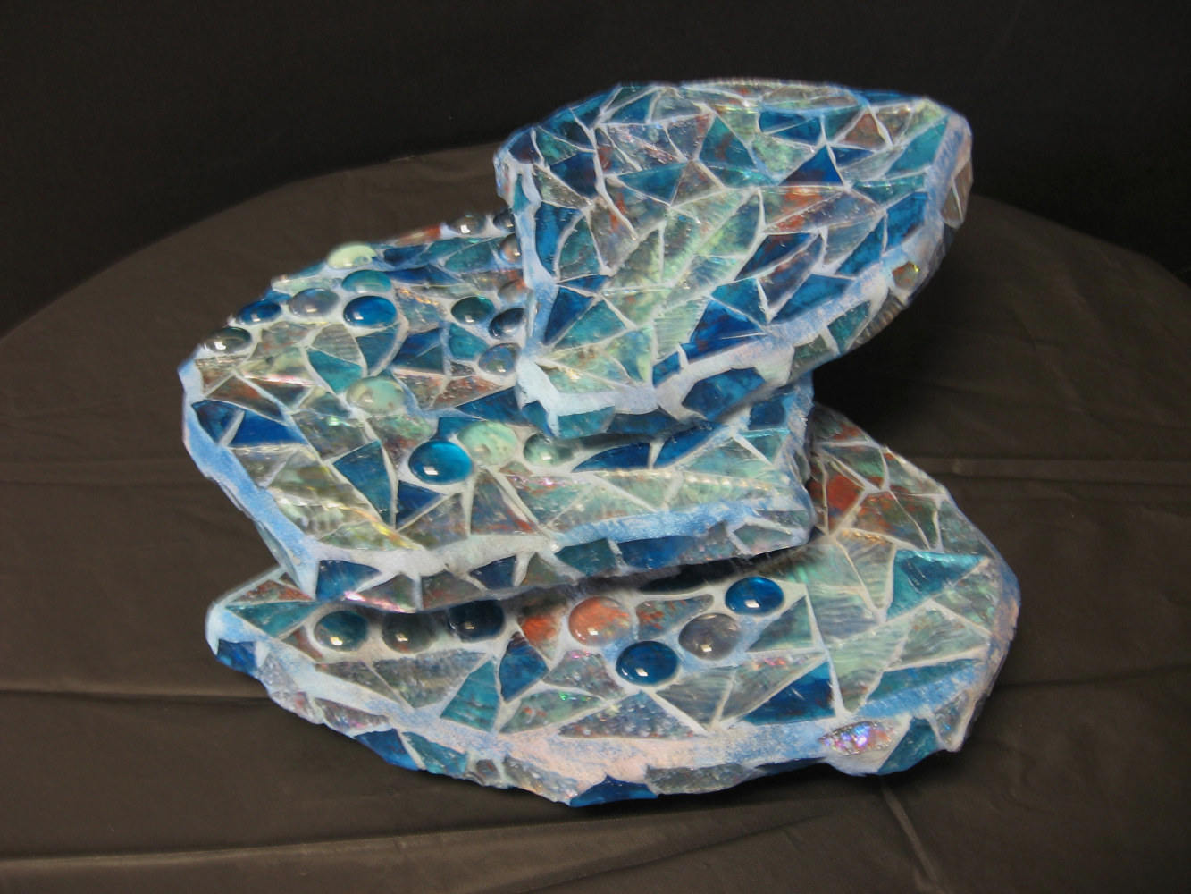 "Painting ""Stones in the Stream"" Sculpture by Karen Spears"