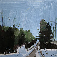 Acrylic painting January Blue by Harry Stooshinoff