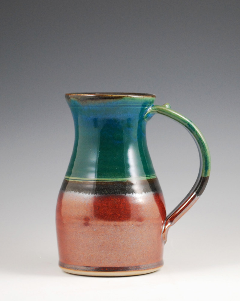 Cerulean Marks Mug with Rust Red by Mark  Goertzen