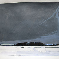 Acrylic painting Snow Field, January 13 by Harry Stooshinoff