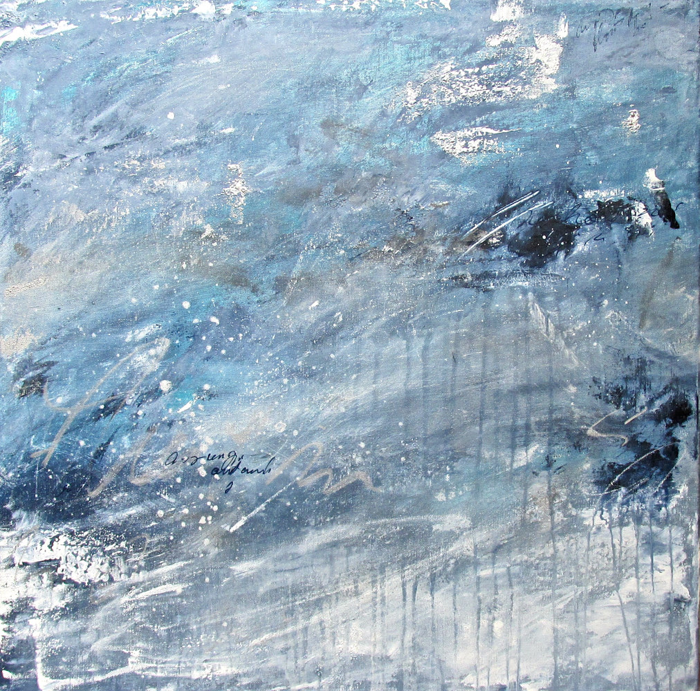 Acrylic painting Windswept 2 by Laura Spring
