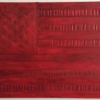 Oil painting Red Flag by Edward Miller